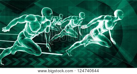 High Performance Organization and Motivated Workforce Talent Art 3D Illustration