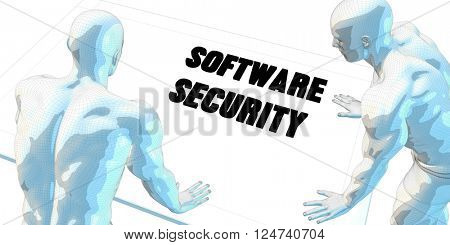 Software Security Discussion and Business Meeting Concept Art 3D Illustration