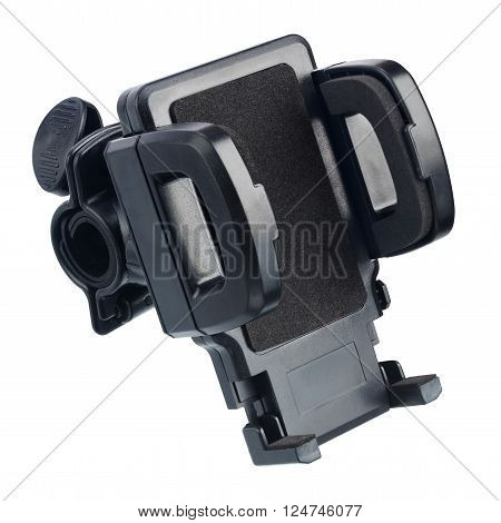 Phone holder for bike isolated on a white background