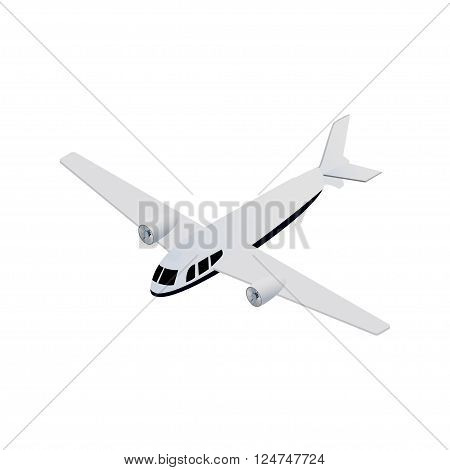 isometric seaplane aircraft realistic icon. technical illustration