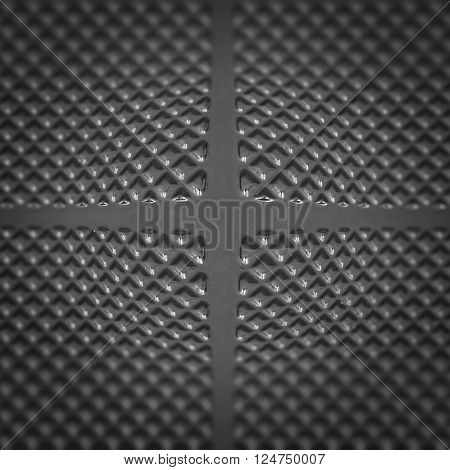 black modern textured geometry background with abstract figures and convex center