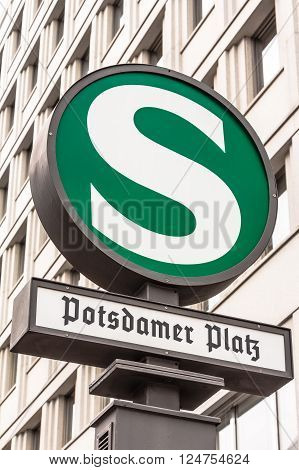 Public transport station Potsdamer Platz in Berlin