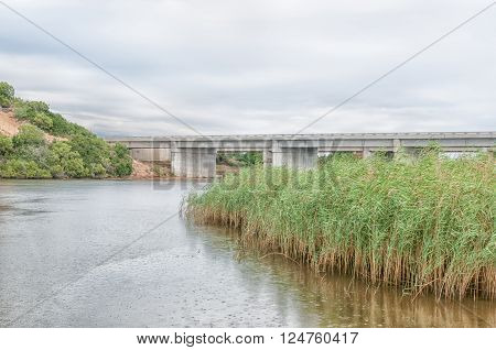 The N2 highway bridge over the Sundays River at Colchester in the Eastern Cape Province of South Africa