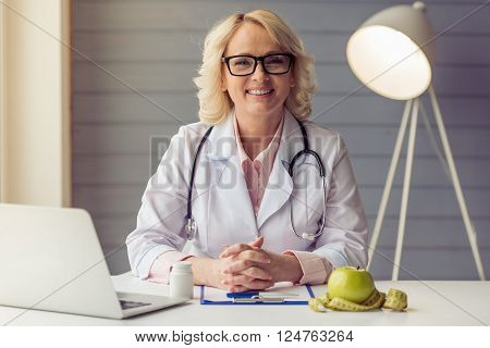 Beautiful Old Female Doctor