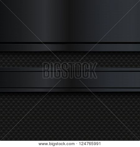 Abstract black metal background, Vector illustration EPS10