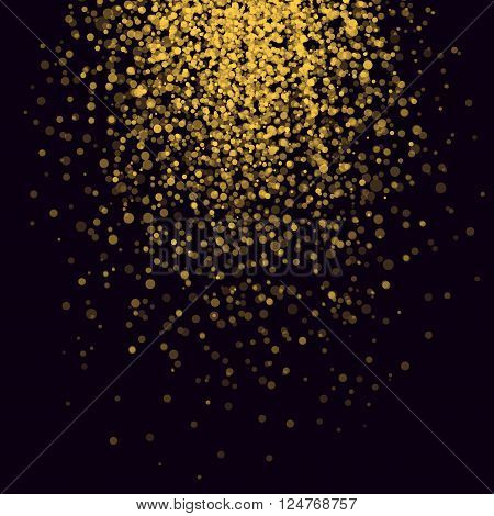 Spark Splashes Background Golden Glitter Shimmer Rain 3