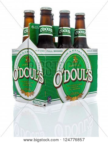 Winneconne WI - 16 March 2016: Six pack of O'doul's non-alcoholic malt beverage