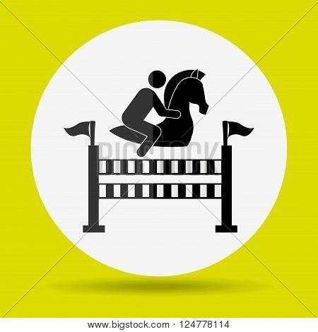 horsemanship icon design, vector illustration eps10 graphic