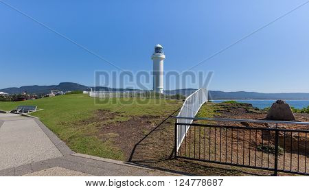 Kiama Lighthouse on a bright sunny summer day, Sydney, Australia.