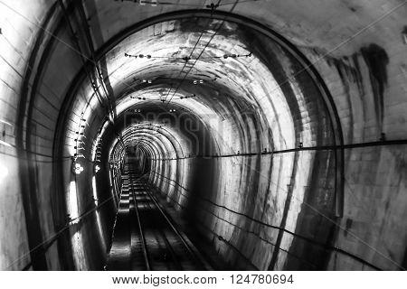 Tunnel to Kurobe Dam - Toyama, Japan