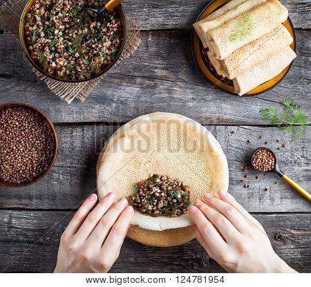 Russian Vegan Pancakes On Shrovetide Holidays