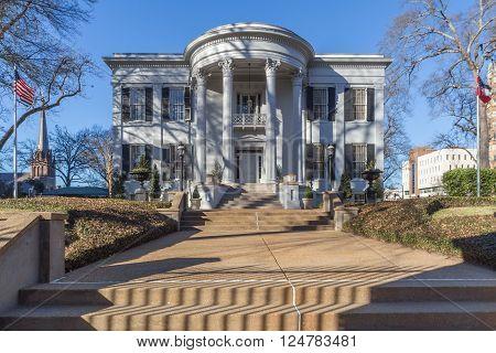 Mississippi Governor's Mansion in Jackson Mississippi, USA