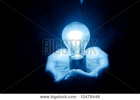 lamp in hand