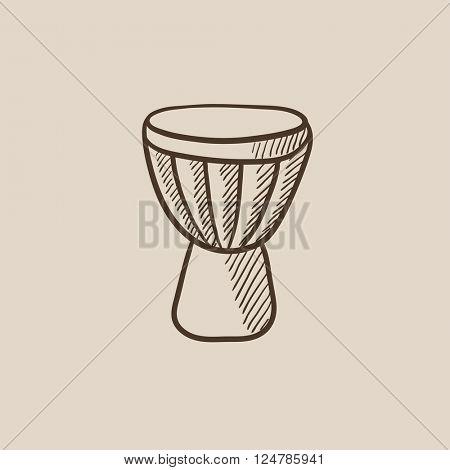 Timpani sketch icon.