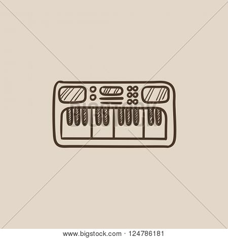 Synthesizer sketch icon.
