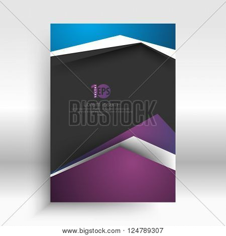 flat layout material corporate background concept design. eps10 vector