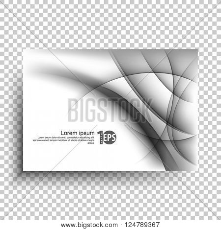 elegant transparency bent lines elements conceptual abstract design. eps10 vector