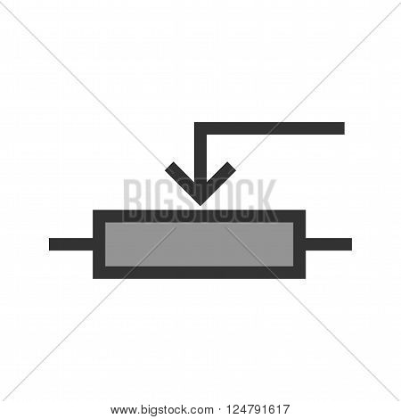 Potentiometer, control, effect icon vector image. Can also be used for electric circuits. Suitable for use on web apps, mobile apps and print media.