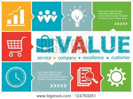 Value Design Illustration Concepts For Business, Consulting, Management