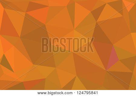 Orange Geometric Rumpled Triangular Low Poly Origami Style Gradient Illustration Graphic Background.