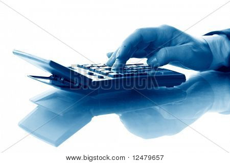 girl hand calculate
