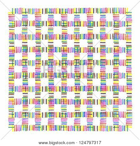 Colorful Intersection Dotted Line Pattern