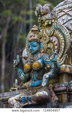 Highly detailed image of Seetha Amman Hindu temple Sri Lanka