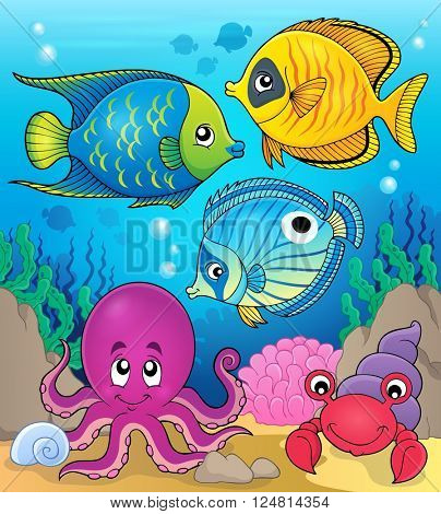 Coral fauna theme image 2 - eps10 vector illustration.