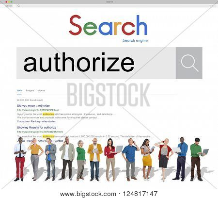 Authorize People Team Concept