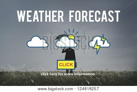 Weather Forecast Temperature Application Concept