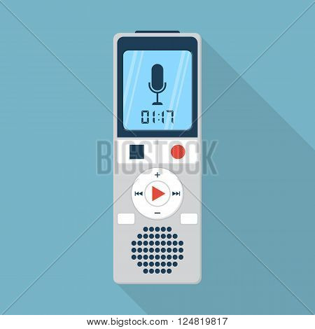 Dictaphone Icon, Flat Design Style