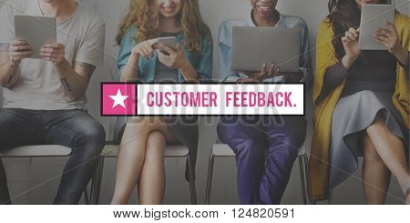 Customer Feedback Questions Reply Information Concept