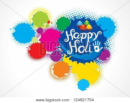 abstract artistic colorful holi splash vector illustration