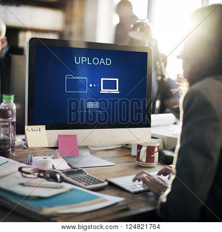 Upload Sharing Transfer Files Computer Concept