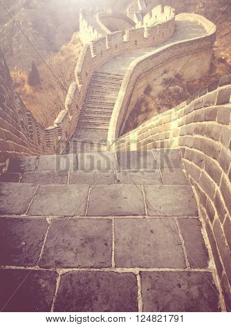 Great Wall of China Travel Scenic Concept