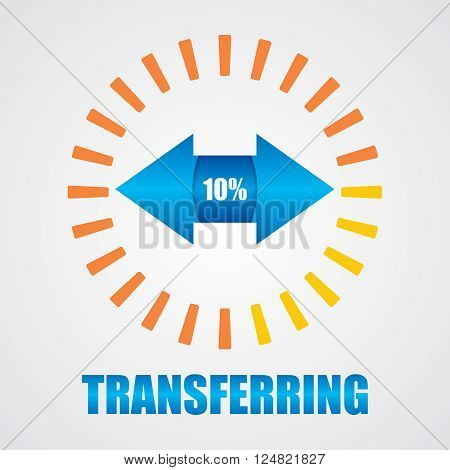 Digital data transfer sign. Abstract illustration for your design.
