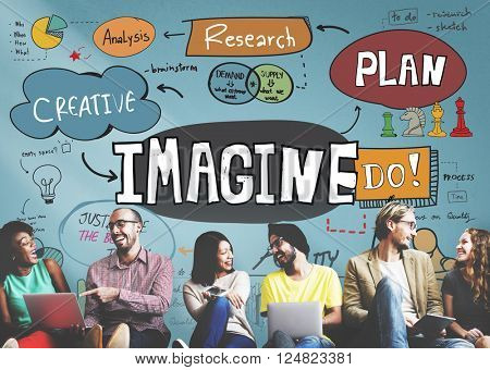 Imagine Imagination Expect Creative Sketch Concept