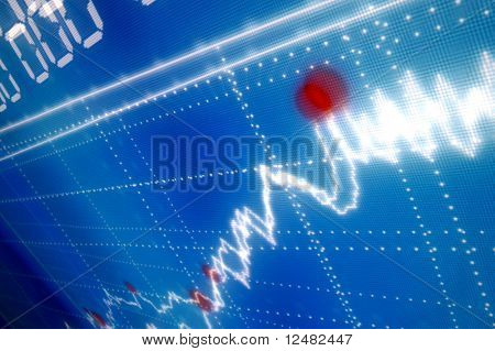 gráfico azul business