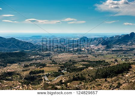 Countryside of Alicante. Costa Blanca. Southern Spain