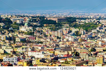 View of Napoli with the Madre del Buon Consiglio Basilica and the Palace of Capodimonte