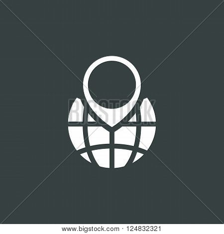 Ecology Icon In Vector Format. Premium Quality Ecology Icon. Web Graphic Ecology Icon Sign On Dark B