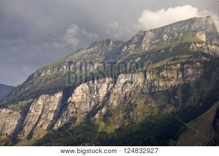 Mountains in the swiss alps, canton berne; switzerland