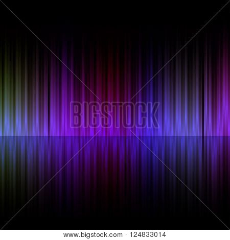 Colorful vertical stripes dark background.
