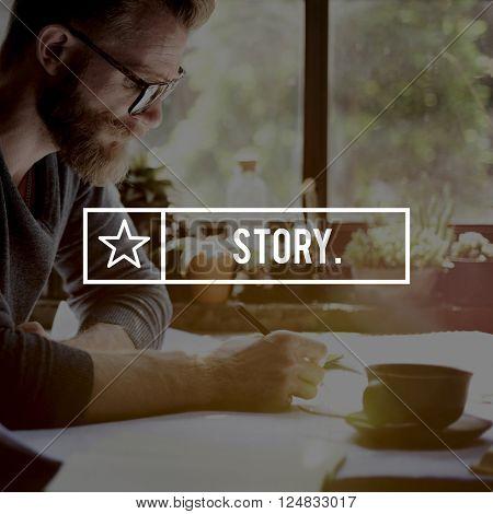 Story Plot Publishing Script Author Journalism Concept