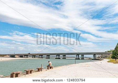 PORT ELIZABETH SOUTH AFRICA - FEBRUARY 26 2016: The N2 highway bridge at the mouth of the Swartkops River
