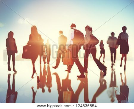 Business People Commuter Travel Corporate Concept