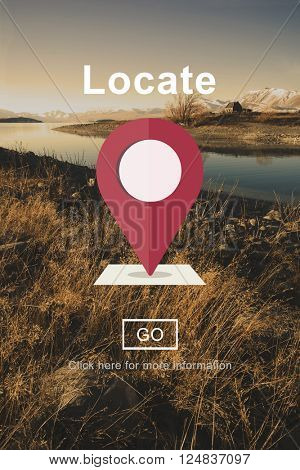 Locate Location Direction Navigation Position Trip Concept