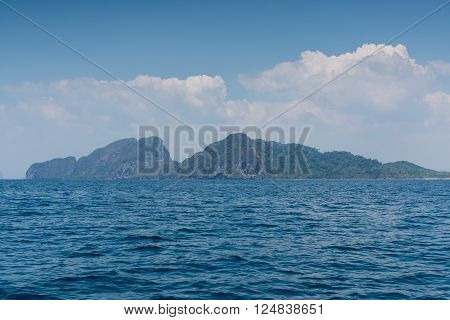 Landscape Summer On The Sea And Formations Mountain