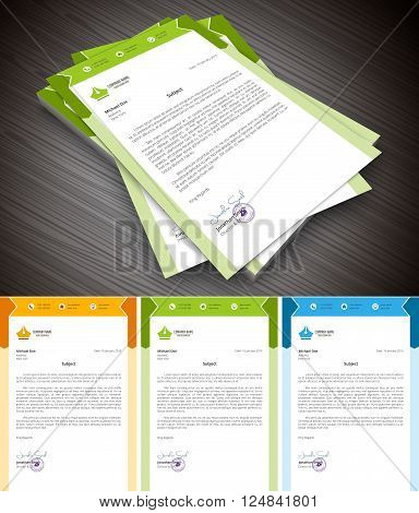 This is simply and creative letterhead. Vector illustration.