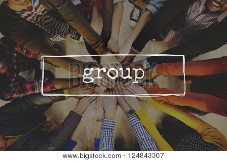 Group Crowd Gang Partnership Society Union Unit Concept